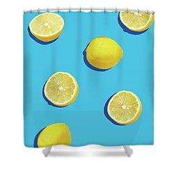 Lemon Pattern Shower Curtain by Rafael Farias