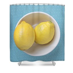 Lemon Pop Shower Curtain by Edward Fielding