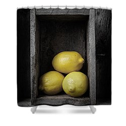 Lemons Still Life Shower Curtain by Edward Fielding