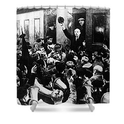 Lenin At Finland Station Shower Curtain by Granger