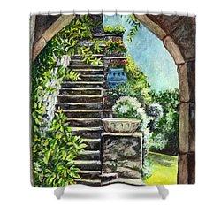 Les Escaliers En Bandouille In Sevres France  Shower Curtain by Carol Wisniewski