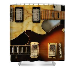 Les Paul - Come Together Shower Curtain by Bill Cannon