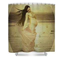 Let Your Soul And Spirit Fly Shower Curtain by Linda Lees