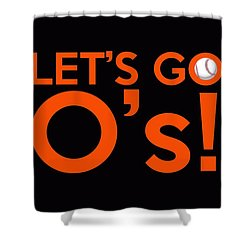 Let's Go O's Shower Curtain by Florian Rodarte