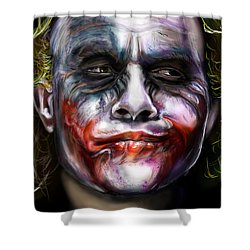 Let's Put A Smile On That Face Shower Curtain by Vinny John Usuriello