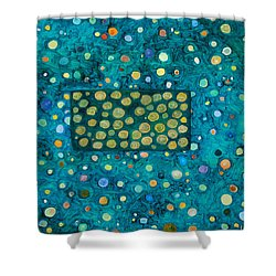 Letting Go Shower Curtain by Ishwar Malleret