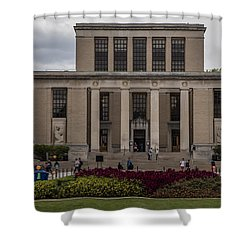 Library At Penn State University  Shower Curtain by John McGraw