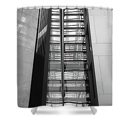 Library Skyway Shower Curtain by Rona Black