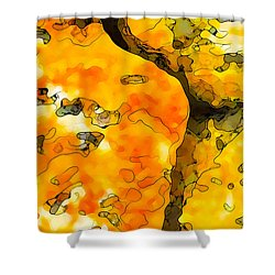 Lichen Abstract 1 Shower Curtain by Bill Caldwell -        ABeautifulSky Photography