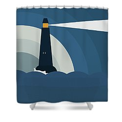 Shower Curtain featuring the painting Lighthouse by Frank Tschakert