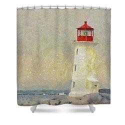 Lighthouse Shower Curtain by Jeff Kolker