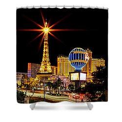 Lighting Up Vegas Shower Curtain by Az Jackson