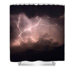 Lightning 2 Shower Curtain by Bob Christopher