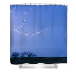 Lightning Crawler Shower Curtain by James BO  Insogna