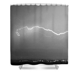 Lightning Over North Boulder Colorado  Ibm Bw Shower Curtain by James BO  Insogna