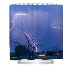Lightning Storm On 17th Street Fine Art Print Shower Curtain by James BO  Insogna