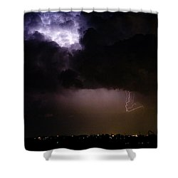 Lightning Thunderstorm Cell 08-15-10 Shower Curtain by James BO  Insogna