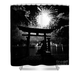 Lights Over Japan Shower Curtain by David Lee Thompson