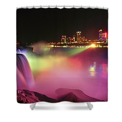 Lightshow Shower Curtain by Mark Papke