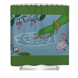 Like Writing On Water 3 Shower Curtain by Andrea Nerozzi