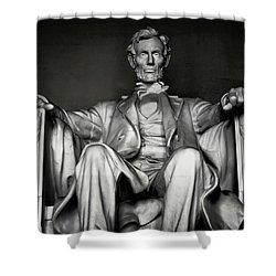 Lincoln Memorial Shower Curtain by Daniel Hagerman