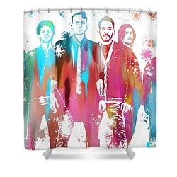 Linkin Park Watercolor Paint Splatter Shower Curtain by Dan Sproul