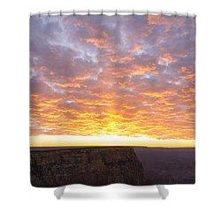 Lipon Point Sunset 3 - Grand Canyon National Park - Arizona Shower Curtain by Brian Harig
