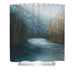 Little Buffalo River Shower Curtain by Mary Ann King