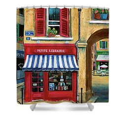 Little French Book Store Shower Curtain by Marilyn Dunlap