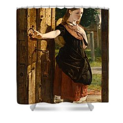 Little Nell Leaving The Church Shower Curtain by James Lobley