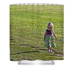 Little Steps Shower Curtain by Evelina Kremsdorf