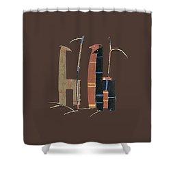 Llamas T Shirt Design Shower Curtain by Bellesouth Studio