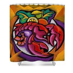 Lobster Shower Curtain by Leon Zernitsky