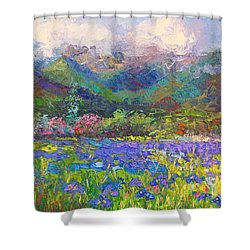 Local Color Shower Curtain by Talya Johnson
