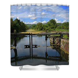 Lock Gates On The Old Canal Shower Curtain by Louise Heusinkveld
