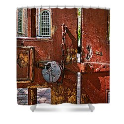 Locked Gate Shower Curtain by Christopher Holmes