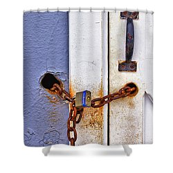 Locked Out Shower Curtain by Evelina Kremsdorf