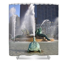 Logan Circle Fountain Shower Curtain by Bill Cannon