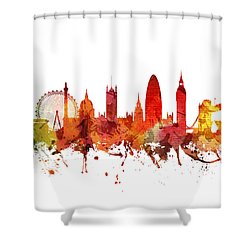 London Cityscape 04 Shower Curtain by Aged Pixel