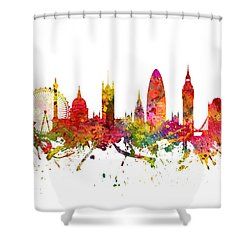 London Cityscape 08 Shower Curtain by Aged Pixel