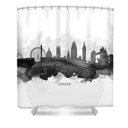 London Cityscape 11 Shower Curtain by Aged Pixel