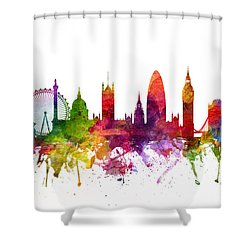 London England Cityscape 06 Shower Curtain by Aged Pixel