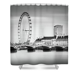 London Eye Shower Curtain by Ivo Kerssemakers