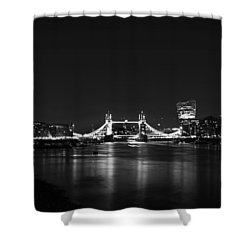 London Night View Shower Curtain by Mark Rogan