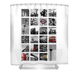 London Squares Shower Curtain by Mark Rogan