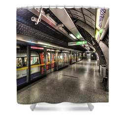 London Underground Shower Curtain by David Pyatt