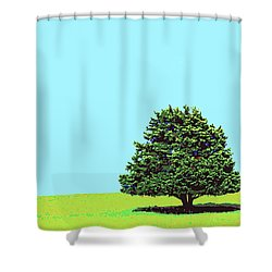 Lone Tree Shower Curtain by Dominic Piperata