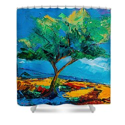Lonely Olive Tree Shower Curtain by Elise Palmigiani