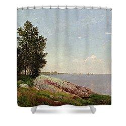 Long Island Sound At Darien Shower Curtain by John Frederick Kensett