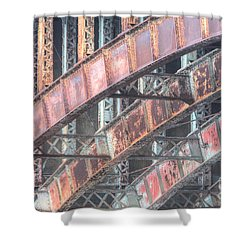Longfellow Bridge Arches I Shower Curtain by Clarence Holmes